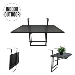 Foldable Balcony Table | Black