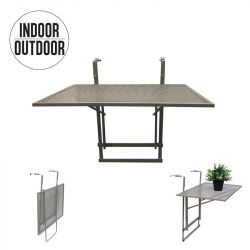Foldable Balcony Table | Taupe