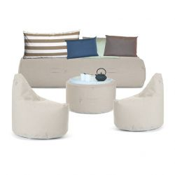 Outdoor-Lounge-Set 'Soziale Terrasse' | Beige