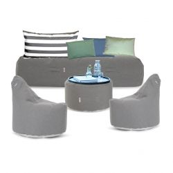 Outdoor-Lounge-Set 'Soziale Terrasse' | Grau