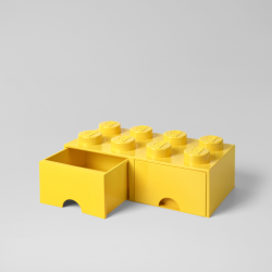 LEGO Brick Drawer 8 Knobs (2 Drawers) | Yellow