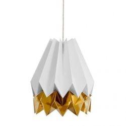 Stripe Lampshade | Grey & Gold