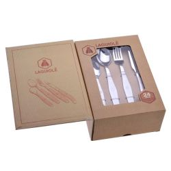 Cutlery set in satin metal | 24 pieces