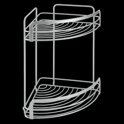 Bathroom Corner Rack Viva | 2 Levels | Silver