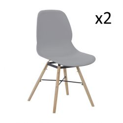 Set de 2 Chaises Ashley | Gris