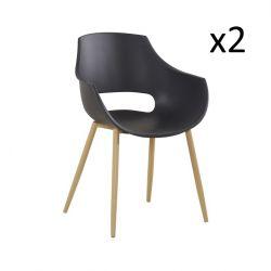 Set de 2 Chaises Angie | Noir