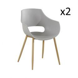 Set de 2 Chaises Angie | Gris