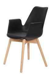 Set of 2 Chairs Jamie | Black