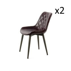 Chair Cecilia Set of 2 | Dark Purple