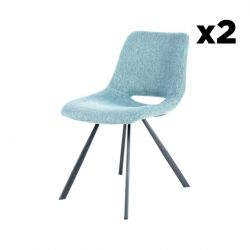 Chaise Hagga Set de 2 | Bleu