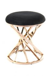 Pouf Tereza 533 | Black & Rose Gold