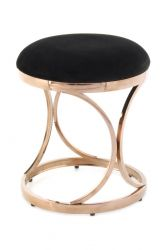 Pouf Terry 533 | Black & Rose Gold