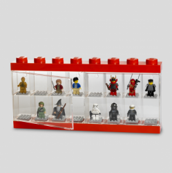 LEGO Minifigure Display Case 16 Red