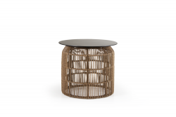 Table d'appoint Pamir | Plateau de table marron clair et noir