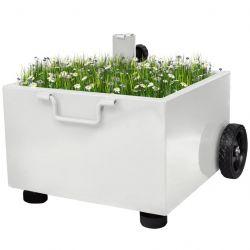 Outdoor Umbrella Stand Plant Pot | White