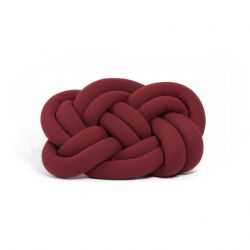 Decorative Cushion Cloud Knot | Burgundy Red