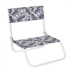 Folding Beach Chair Natural Wild | Black/White
