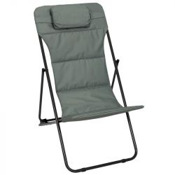 Foldable Garden Lounge Chair Corfu | Khaki Green