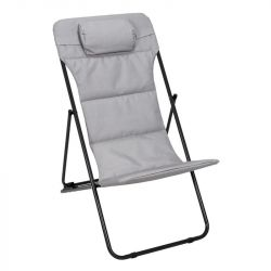 Foldable Garden Lounge Chair Corfu | Grey