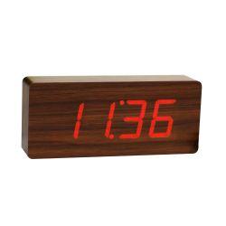 Slab Click Clock | Teak & Rot