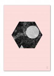 A3 Druck | Marmor Marvel 09 Rosa