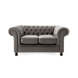 Chesterfield 2 Seater | Silver