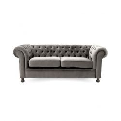 Canapé Chesterfield 3 Places | Argent