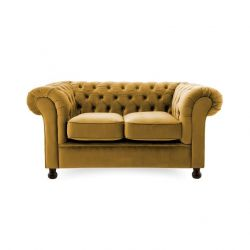 Canapé Chesterfield 2 Places | Moutarde