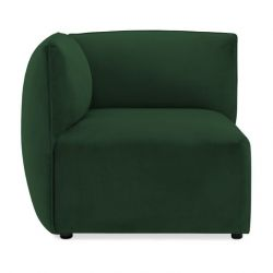 Cube Sofa Left Corner | Emerald Green