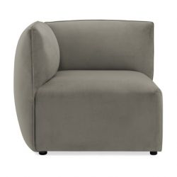 Cube Sofa Left Corner | Silver Grey