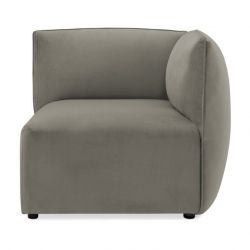 Cube Sofa Right Corner | Silver Grey
