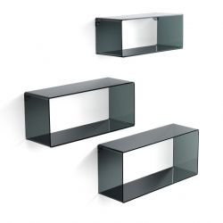Set of 3 Wall Cubes | Black