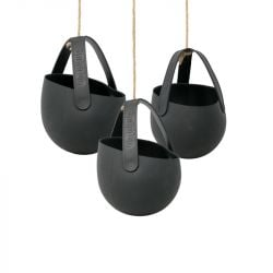 Set de 3 Jardinières à Suspendre Sling | Wicked Black