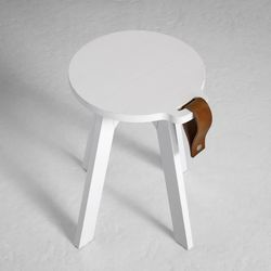 Country Stool | White