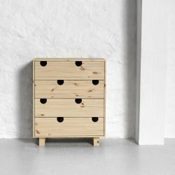 Dressoir 4 Tiroirs House | Naturel