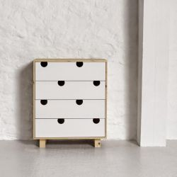 Dressoir 4 Tiroirs House | Naturel & Blanc