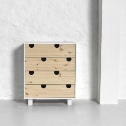 4-drawer Dresser House | White & Natural