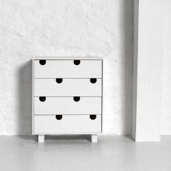 4-drawer Dresser House | White