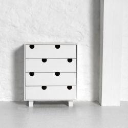 Kommode mit 4 Schubladen | Weiß