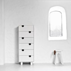 6-drawer Dresser House | White