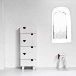 Dressoir 6 Tiroirs House | Blanc