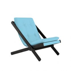 Chair Boogie | Black Lacquered / Light Blue