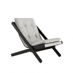 Chair Boogie | Black Lacquered / Light Grey
