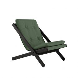 Chair Boogie | Black Lacquered / Olive Green