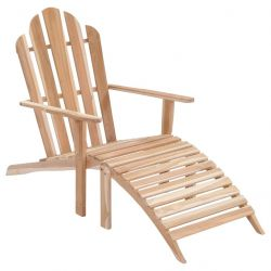 Garden Chair with Footrest Adirondack