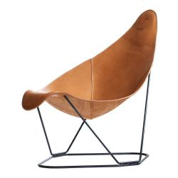 Fauteuil en Cuir Moderne Abrazo | Brun