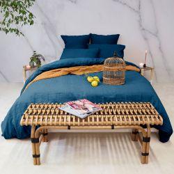 Bettdeckenbezug 155 x 200 cm | Blau