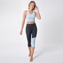 Set of Legging and Technical Sport Bra 7051 7052 | Negro Aqua