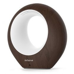 Smarter WLAN Luft Monitor & Luftreiniger AirSense | Dunkles Holz