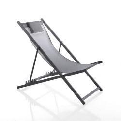 Chaise de Plage Ajustable Milos | Gris